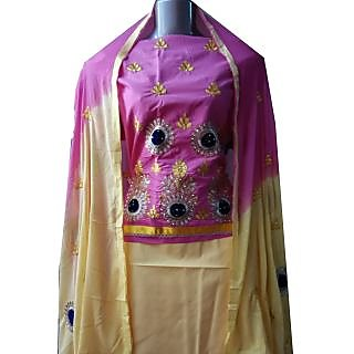 Cotton Embroidery Unstiched Dress Material