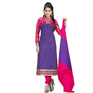 New Purple And Blue Coloured Designer Salwar Suit