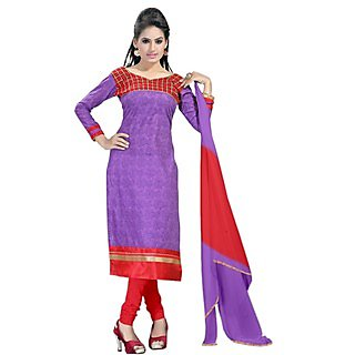 Purple And Red Fabulous And Glorious Salwar Suit
