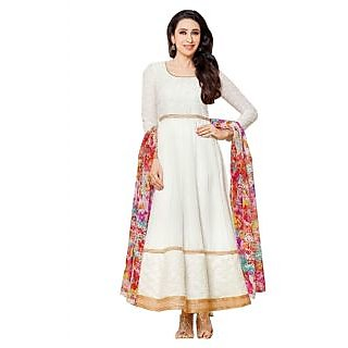 Karishma Kapoor White Designer Embroidered Anarkali Suit JN1109