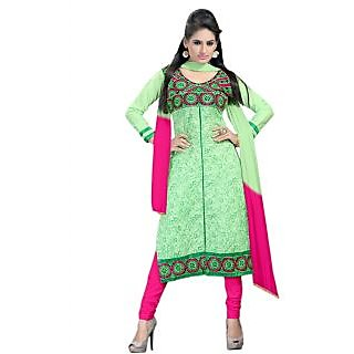 Light Green Coloured Straight Cut Salwar Suit