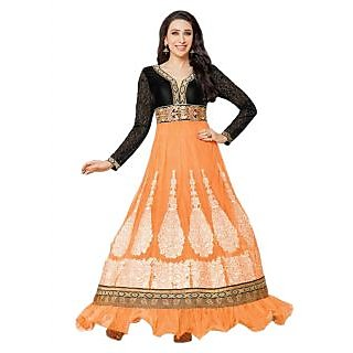 Karishma Kapoor Orange Heavy Embroidered Anarkali Suit JN1103