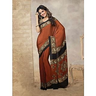Silk  Brown Saree