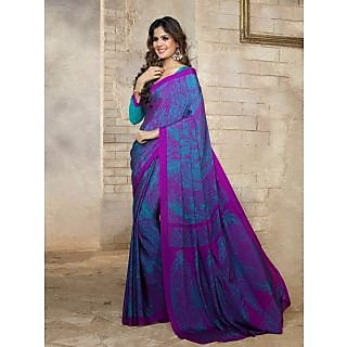 Silk  Blue Saree - 75001768