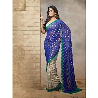 Silk  Blue Saree