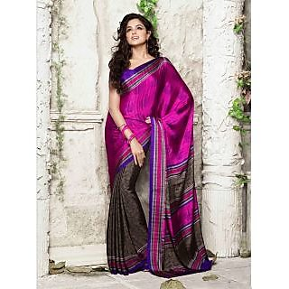 Silk  Magenta Saree