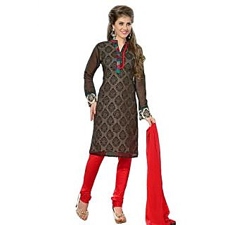 Latest Fashion Designer Black And Red Salwar Sui