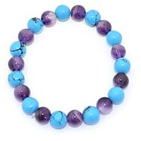 Kriti Feng Shui Turquoise And Amethyst Combination Bracelet