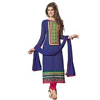 Dazzling Designer Blue And Pink Salwar Suit