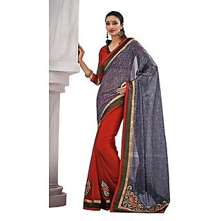 Beautiful Fancy Jacquard Grey Saree