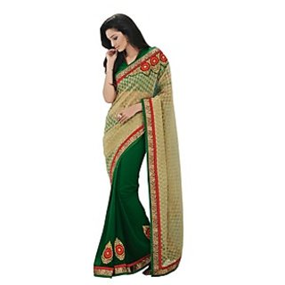Beautiful Fancy Jacquard Gold Saree
