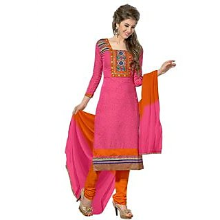 New Fashion Peach And Orange Designer Salwar Suit