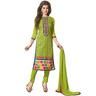 New Fashion Designer Attractive Green Salwar Suit