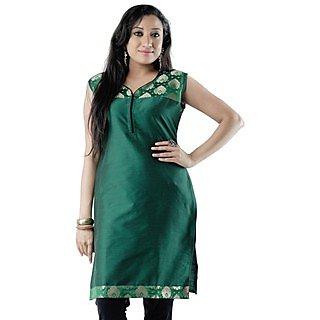 Trendy Cotton Green Women Casual Kurti HIFI29GRNH