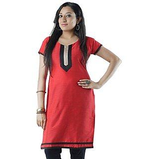 Cotton Red Women Casual Kurti HIFI18BGEH