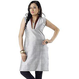 Cotton Grey Women Casual Kurti HIFI19GRYS