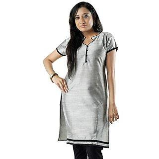 Cotton Grey Women Casual Kurti HIFI29GRNS