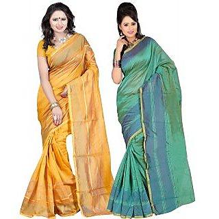 Carah Exclusive Pack Of 2 Cotton Silk Saree CRH-N251