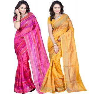 Carah Exclusive Pack Of 2 Cotton Silk Saree CRH-N255