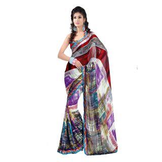 Apka Apna Fashion Multi Color Printed Sarees - 75015934