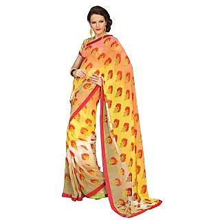 Tamanna Ronak Multicolor Georgette Designer Printed Saree