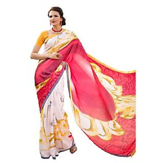 Tamanna Ronak Multicolor Satin, Georgette Designer Printed Saree
