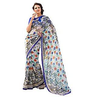 Tamanna Ronak Multicolor  Georgette Designer Printed Saree - 75023884