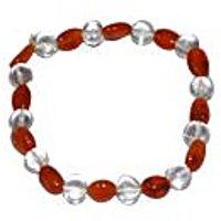 Kriti Feng Shui Clear Quartz With Carnelian Bracelet
