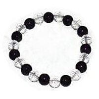 Kriti Feng Shui Clear Quartz With Amethyst Bracelet