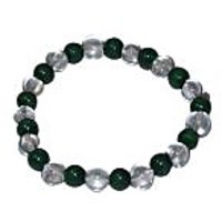 Kriti Feng Shui Clear Quartz And Malachite Bracelet