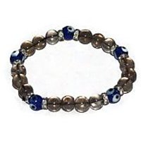 Kriti Feng Shui Smoky Quartz With Turkish Evil Eye Bracelet