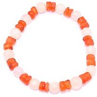 Kriti Feng Shui Rose Quartz With Carnelian Bracelet
