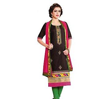 Premium Cotton Rajwadi Work Un-stitched Dress Material
