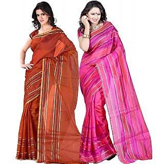 Carah Exclusive Pack Of 2 Cotton Silk Saree CRH-N256