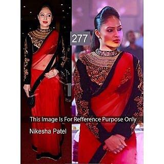 Nikesha Patel Awesome Designer Saree
