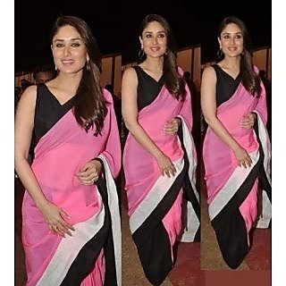 Kareena Kapoor Pink And Black Bollywood Saree