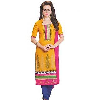Premium Cotton Rajwadi Work Un-stitched Dress Material - 75033176