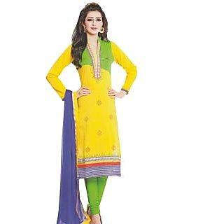 Premium Cotton Rajwadi Work Un-stitched Dress Material - 75033508