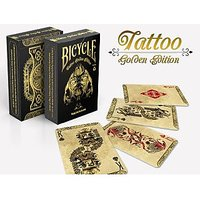 Bicycle Tattoo Golden Playing Cards (GOLD) Edition Deck By Phoenix Playing Cards