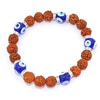 Kriti Feng Shui Five Mukhi Rudraksh With Turkish Evil Eye Bracelet