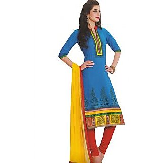 Premium Cotton Rajwadi Work Un-stitched Dress Material - 75034798