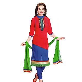 Premium Cotton Rajwadi Work Un-stitched Dress Material - 75035298