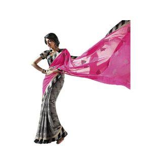 Radhika Art Silk Border Saree With Blouse Piece - 75038896