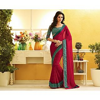 RnLush2225 Bollywood Designer Collection By Chiffon Saree With Silk Blouse.