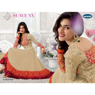 Designer Anarkali Salwar Suit,Semi Stitched Dress Material, Heavy Embroiery - 75044824