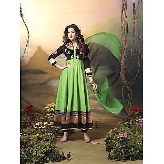Designer Anarkali Salwar Suit,Semi Stitched Dress Material, Heavy Embroiery - 75048146