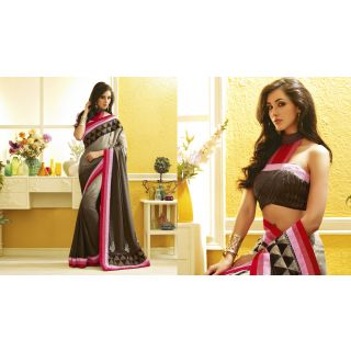RnLush3145 Bollywood Designer Collection By Chiffon Saree With Silk Blouse.
