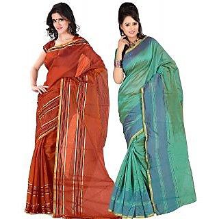 Carah Exclusive Pack Of 2 Cotton Silk Saree CRH-N278