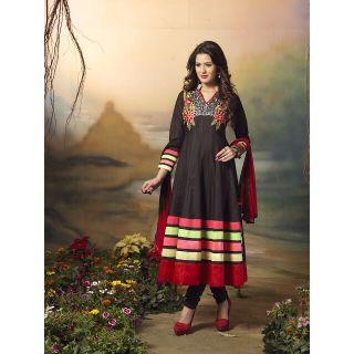 Designer Anarkali Salwar Suit,Semi Stitched Dress Material, Heavy Embroiery