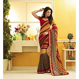 RnLush3151 Bollywood Designer Collection By Chiffon Saree With Silk Blouse.